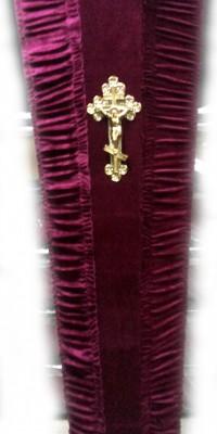 Гроб бордовый - велюр