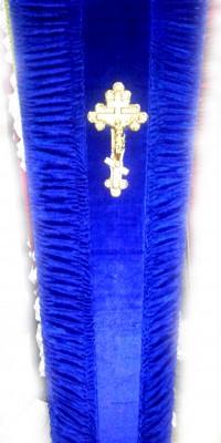 Гроб синий - велюр