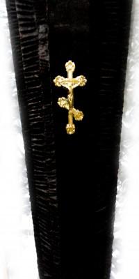 Гроб чёрный, коричневый - велюр
