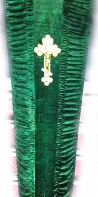 Гроб зелёный - велюр