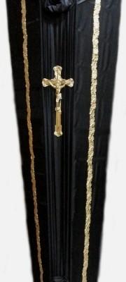 Гроб черный - простой